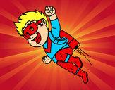 Dibujo Héroe volando pintado por Lineth