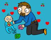 Dibujo Padre jugando con bebé pintado por SOFINAIMI8