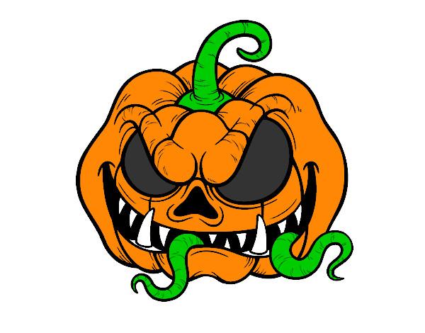 calabazas de halloween terrorificas para colorear imagui