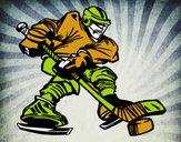 Dibujo Jugador de hockey profesional pintado por mans