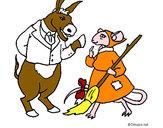 Dibujo La ratita presumida 9 pintado por Norys