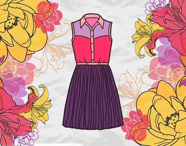 Dibujos De Vestidos Para Colorear E Imprimir: Dibujo De El Vestido De Lali Esposito Pintado Por Lali12