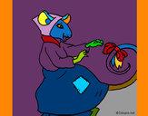 Dibujo La ratita presumida 7 pintado por stocn