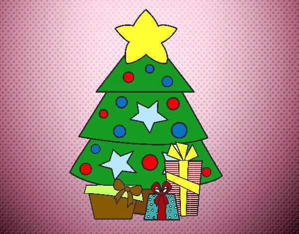 Dibujo de regalos de navidad 2 pintado por falos en for Dibujos de navidad pintados