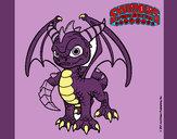 Dibujo Spyro pintado por caro-2345