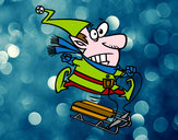 Dibujo Elfo en un trineo pintado por orilib
