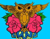 Dibujo Símbolo búho pintado por gofrina