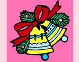 Dibujo Campanas de navidad 1 pintado por claudia111