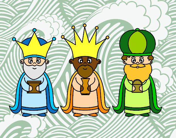 Dibujos De Reyes Magos Coloreados: Dibujo De Los 3 Reyes Magos Pintado Por Sarita22 En
