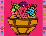Dibujo Cesta de flores 11 pintado por dianita12