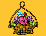 Dibujo Cesta de flores pintado por Sandyita