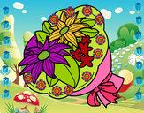 Dibujo Ramo de crisantemos pintado por dianita12