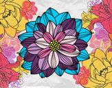 Dibujo Flor de dalia pintado por sabri35