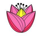 Dibujo Flor de tulipán pintado por vangie