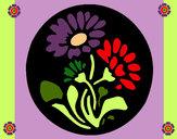 Dibujo Grabado con flores pintado por Lucbal