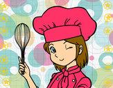 Dibujo Cocinera pintado por linda01
