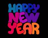 Dibujo Feliz año nuevo pintado por elenart