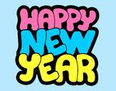 Dibujo Feliz año nuevo pintado por wescania
