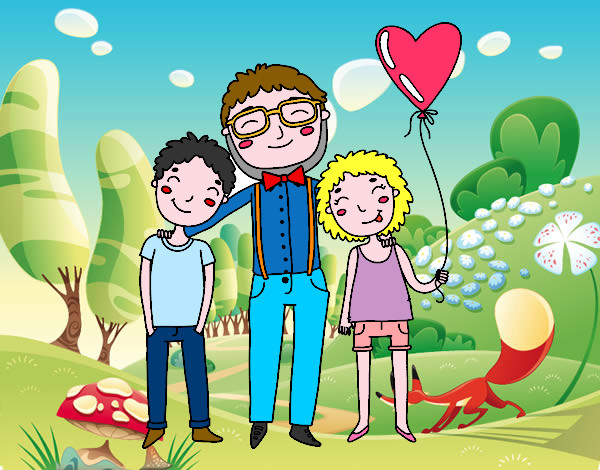 Dibujo de Padre e hijos pintado por Manuel13 en Dibujos ...