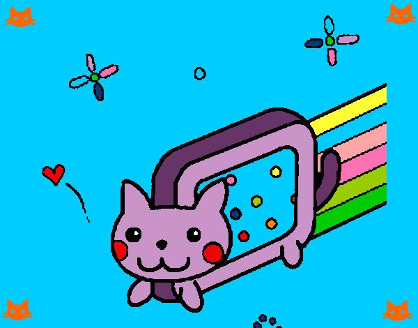 Dibujos de gatos kawaii para colorear - Dibujos de gatos pintados ...
