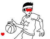 Dibujo Jugador de básquet junior pintado por genesis_23