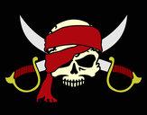 Dibujo Símbolo pirata pintado por Assin