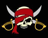 Dibujo Símbolo pirata pintado por Elisaseya