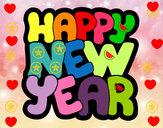 Dibujo Feliz año nuevo pintado por rodi