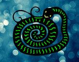 Dibujo Signo de la serpiente pintado por rodi