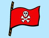 Dibujo Bandera pirata pintado por LuliTFM