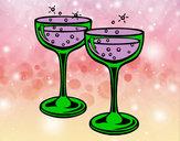 Dibujo Copas de champán pintado por HCCE