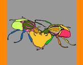 Dibujo Escarabajos pintado por Mariadelca