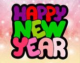 Dibujo Feliz año nuevo pintado por abizura