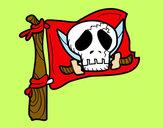 Dibujo Jolly Roger pintado por LuliTFM