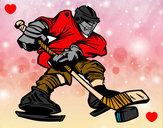 Dibujo Jugador de hockey profesional pintado por HCCE