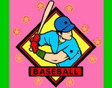 Dibujo Logo de béisbol pintado por HCCE