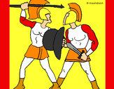Dibujo Lucha de gladiadores pintado por HCCE