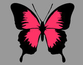 Dibujo Mariposa con alas negras pintado por angie1235