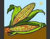 Dibujo Mazorca de maíz pintado por queyla