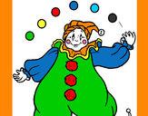 Dibujo Payaso con bolas pintado por HCCE