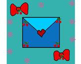 Dibujo Sobre con corazones pintado por  janm