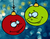 Dibujo Bolas de Navidad pintado por dianita12