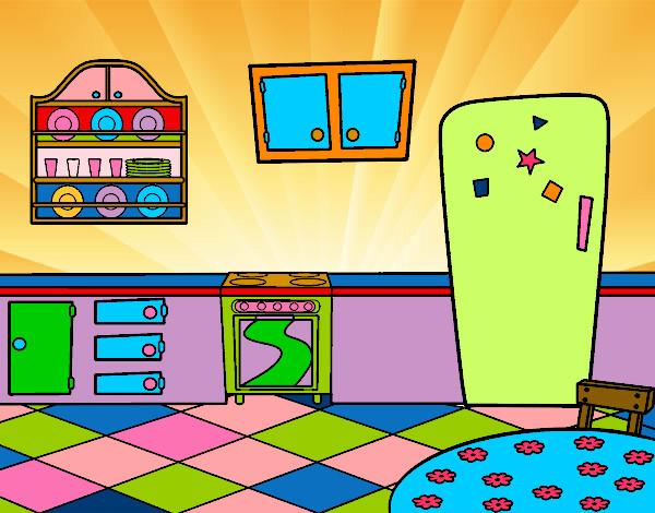 Dibujo de cocina office pintado por mariadelca en dibujos for Dibujos de cocina