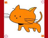 Dibujo Cría de gato pintado por familia51