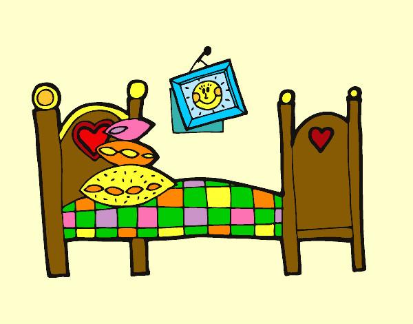 Dibujo de dormitorio pintado por queyla en el for Dormitorio animado