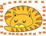 Dibujo Gato durmiendo pintado por estefani1