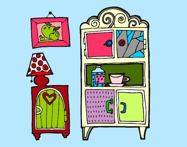 dibujo de muebles de salón pintado por queyla en dibujos.net el ... - Dibujo De Muebles