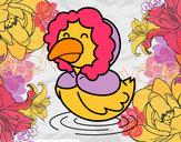 Dibujo Pato en invierno pintado por queyla