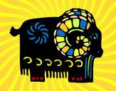Dibujo Signo de la cabra pintado por claudenasv