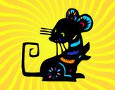 Dibujo Signo de la rata pintado por claudenasv
